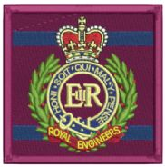 RE Corp TRF Embroidered Badge